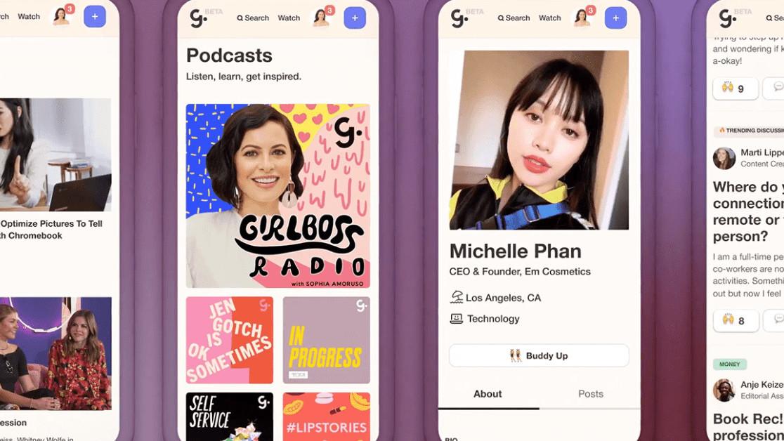 Girlboss launches its first-ever social network, a 'LinkedIn' for women