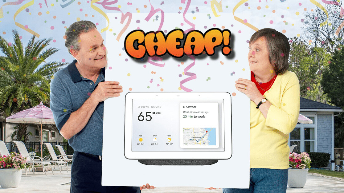 CHEAP: Show your smart house who's boss with a Google Home Hub for only $79