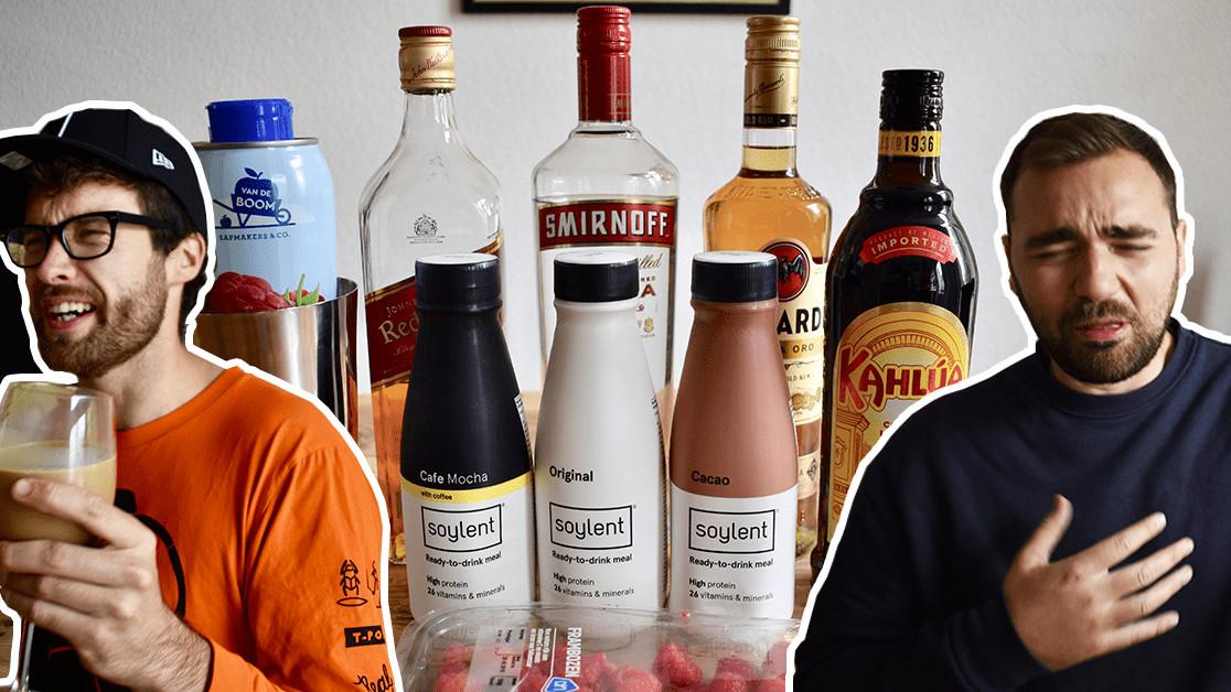 God forgive us, we made cocktails using Soylent