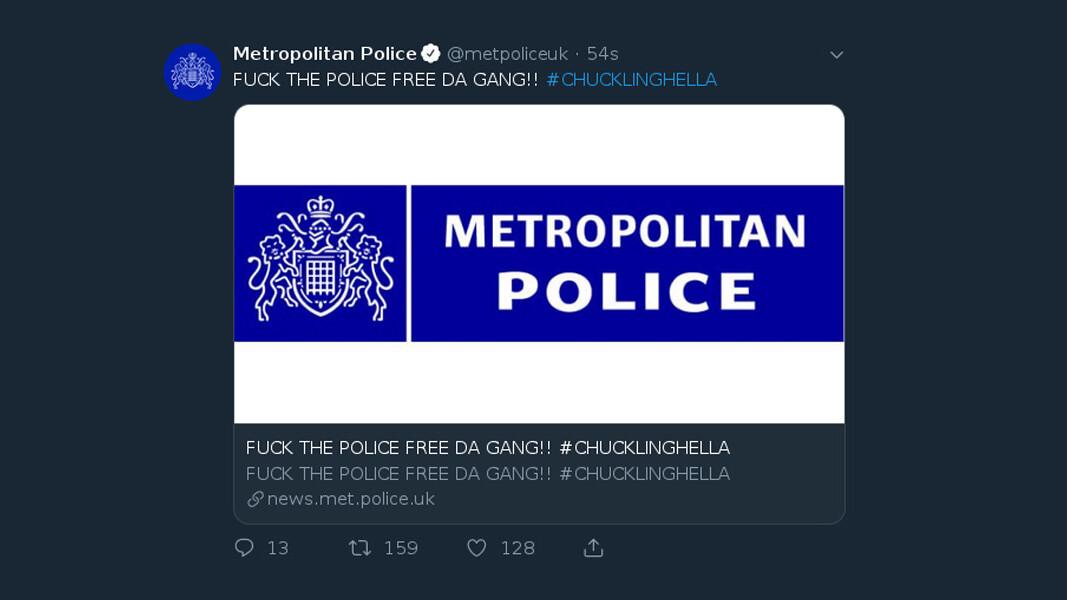 Met Police website hacked, tweets 'F*CK THE POLICE'