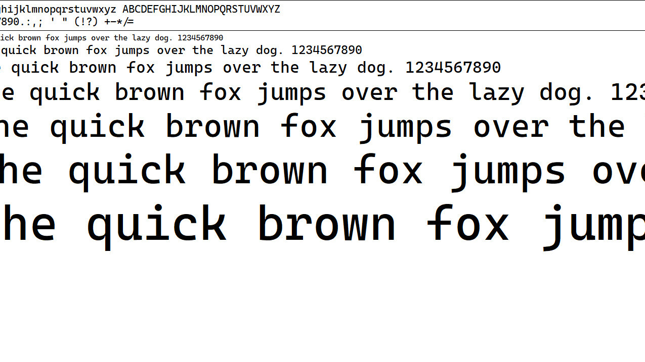 Microsoft's new font for devs is very aesthetically pleasing (and free)