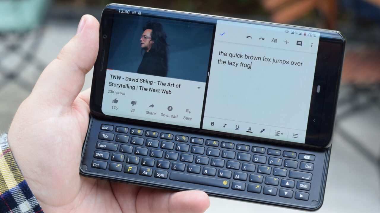 The F(x)tec Pro 1 proves there's room for keyboard slider phones in 2019