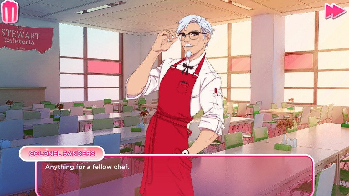I absolutely need this KFC dating sim in my life