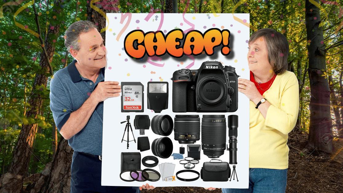 CHEAP: Ditch the amateur photography league with $1,610 off the Nikon D7500 megakit