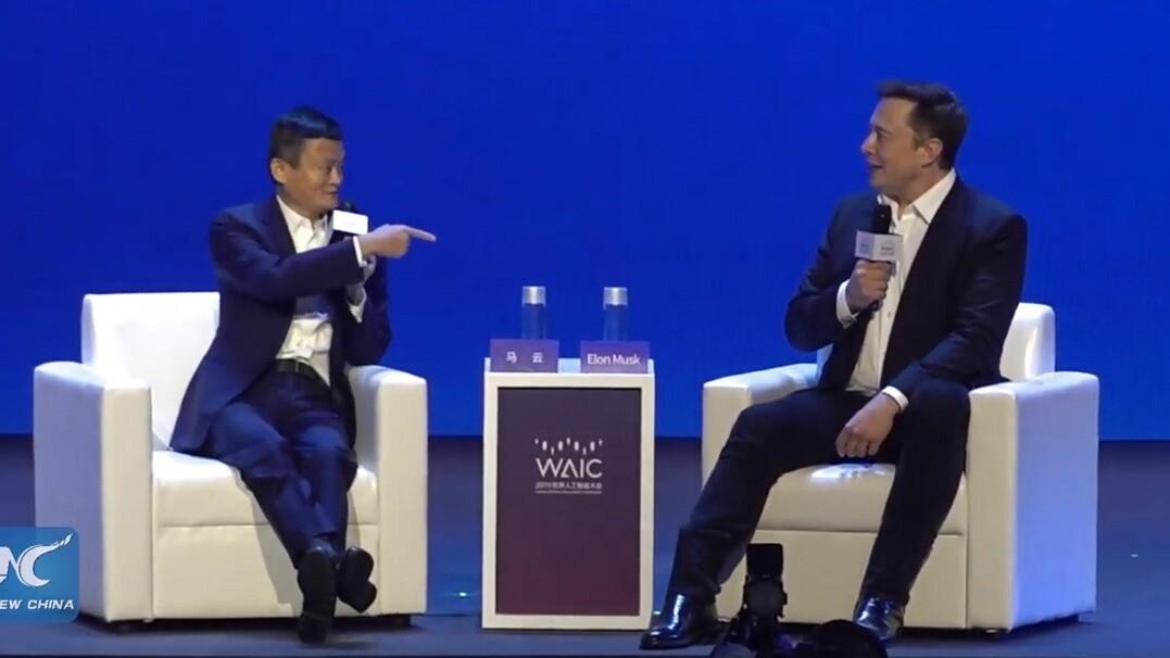 Elon Musk seemed unhinged 'debating' AI with Jack Ma
