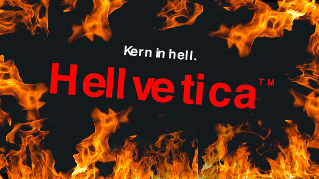 This hellish Helvetica font is perfect for Halloween