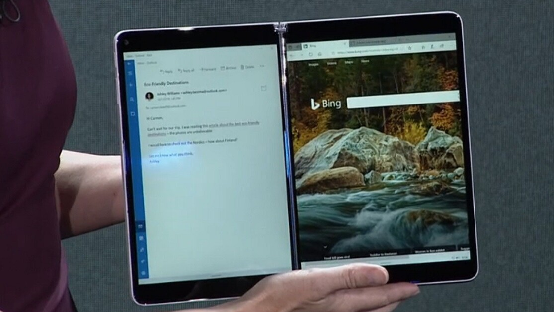Microsoft teases Windows 10X, optimized for dual screens
