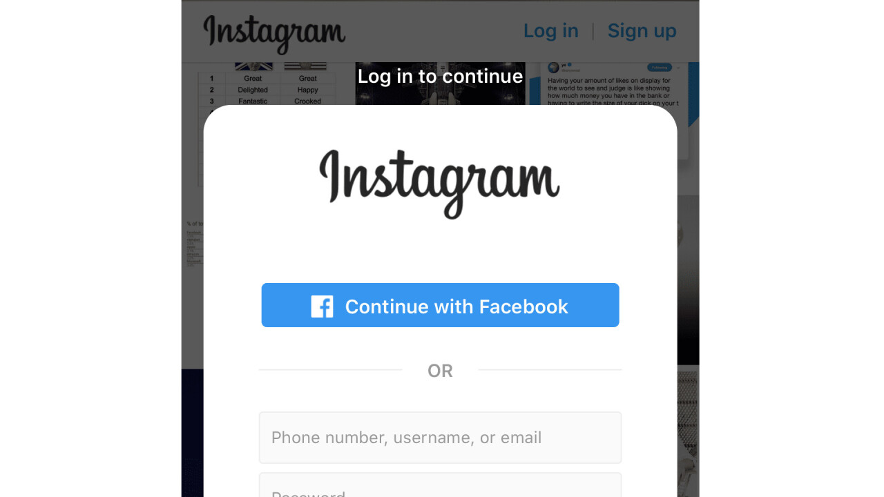 Instagram now forces people to sign in to view public profiles