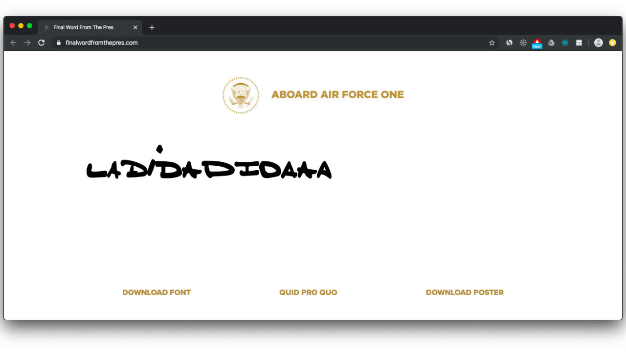 This YUGE font generator lets you write like Trump