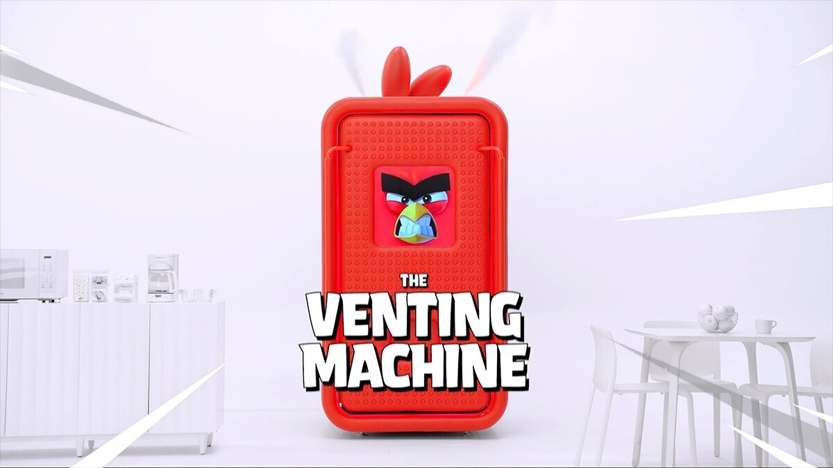 Celebrate 10 years of Angry Birds by beating the crap out of this vending machine