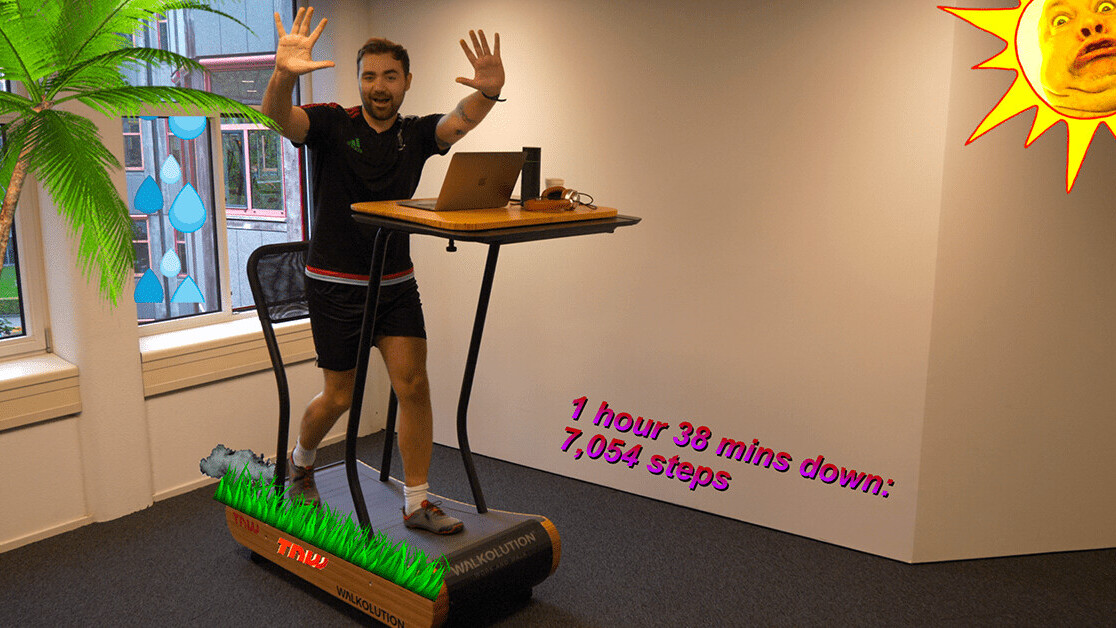 Watch me test a 'walking desk' for 7 hours straight because why not