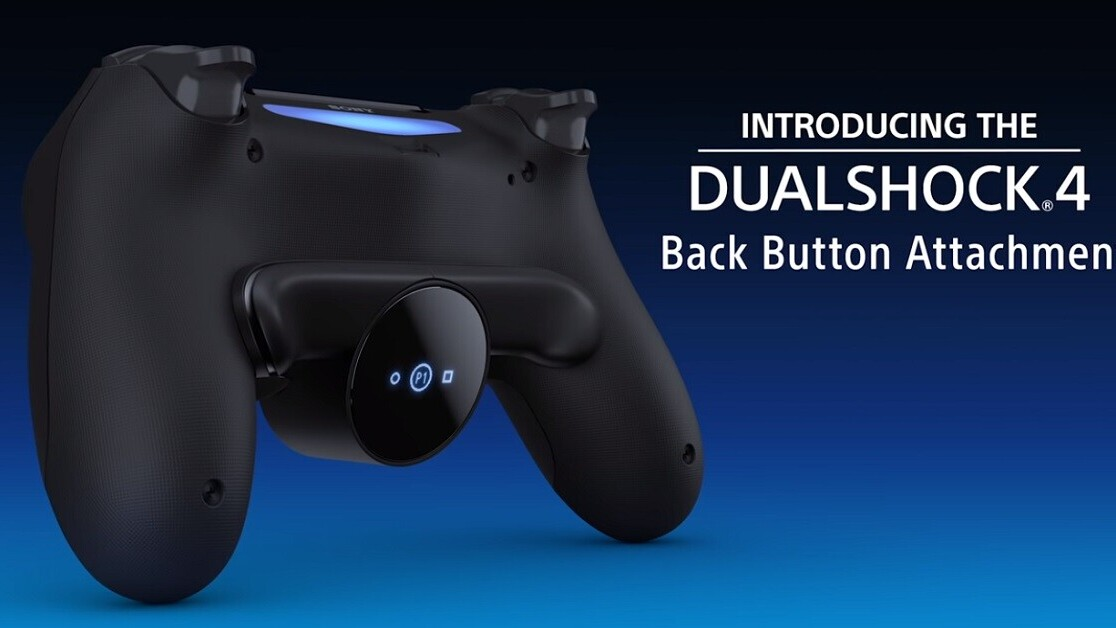 Sony's adding back buttons to the PS4 controller via this official attachment