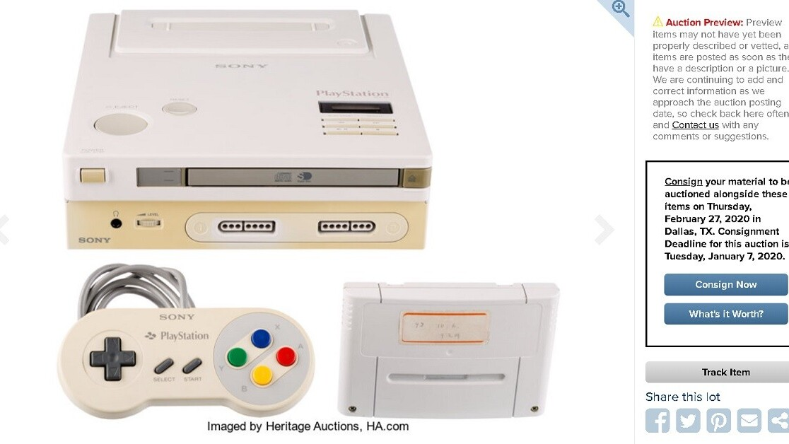 The super-rare Nintendo Play Station prototype is going to auction