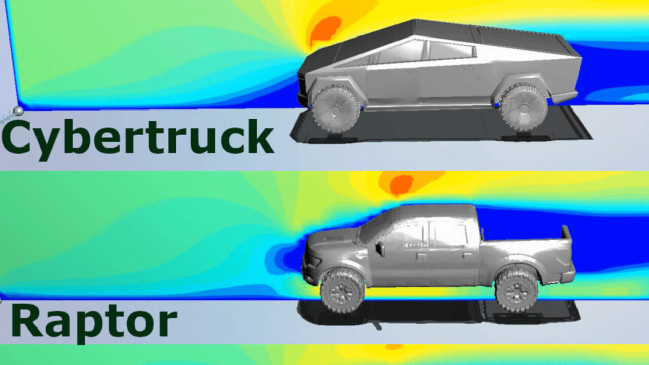 Here's how the Cybertruck's aerodynamics compare to regular trucks