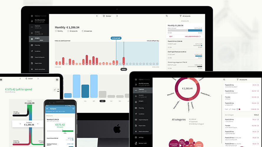 Toshl is how 2 million people track their money. Right now, it's 66% off.