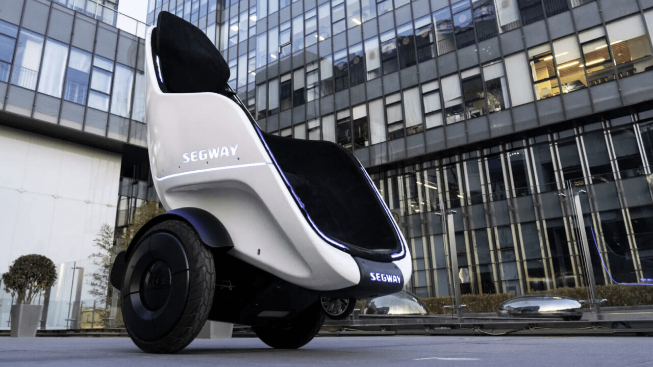 The Segway S-Pod is a 24mph throne on wheels