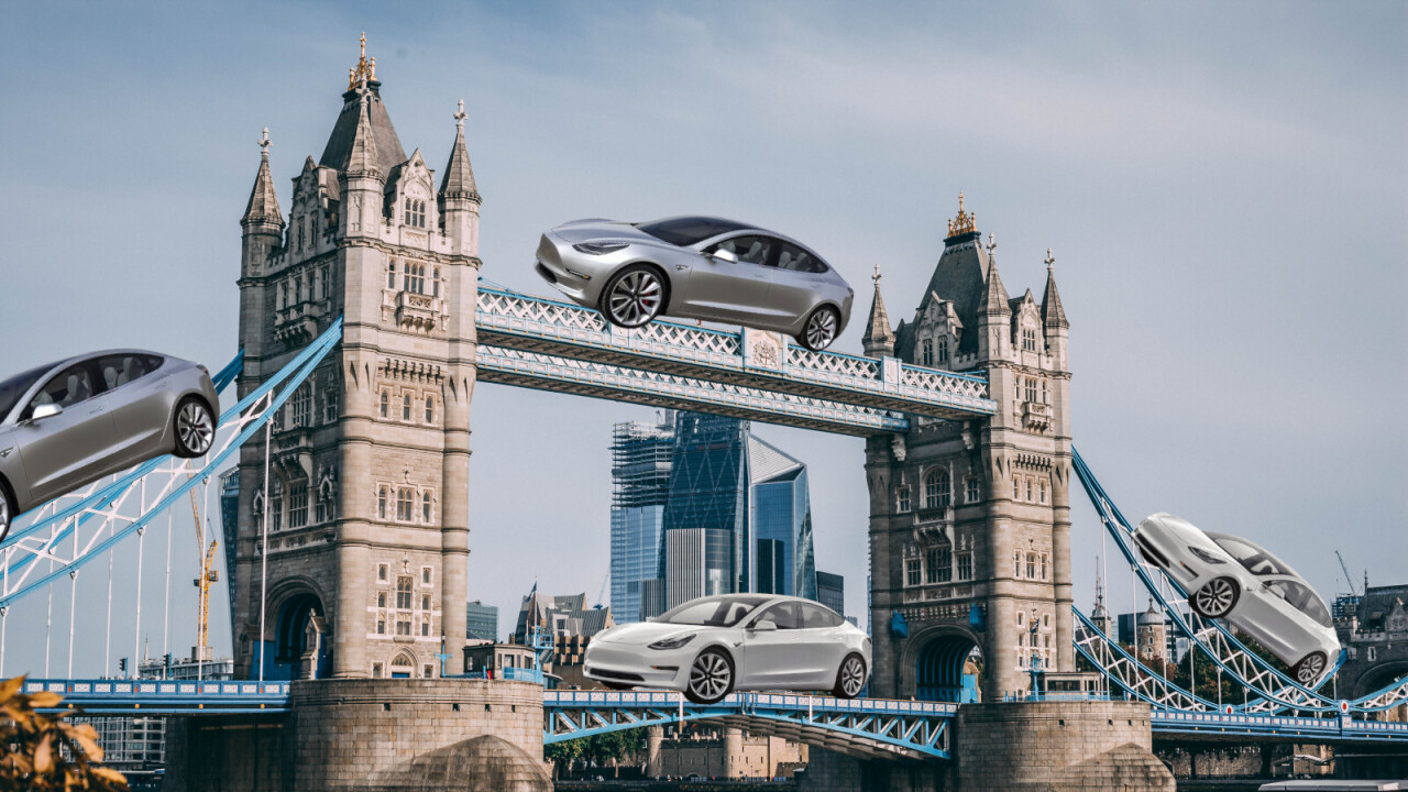 Tesla Model 3 drives surge in UK's battery-powered vehicle registrations
