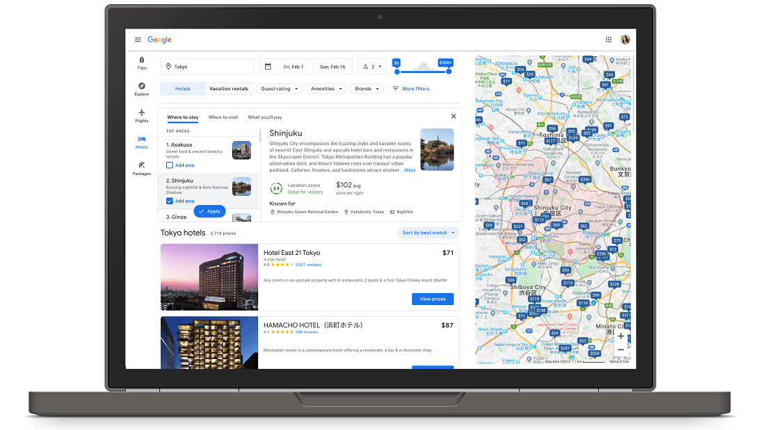 Google's improved travel search tools are great for planning trips on a budget