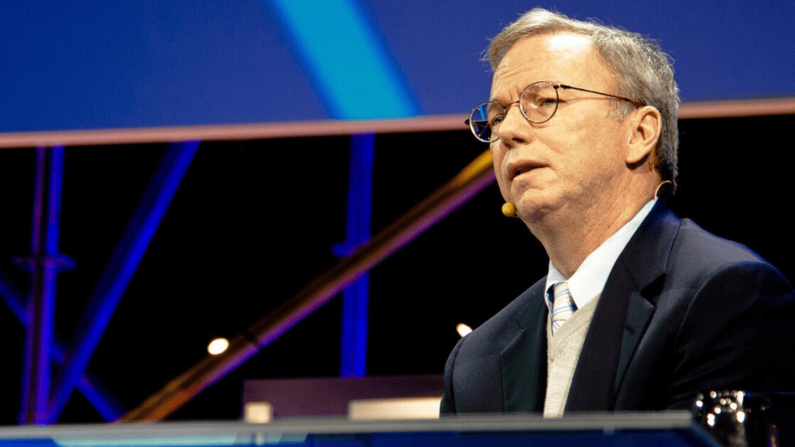 Eric Schmidt says big tech needs government help to keep up with China