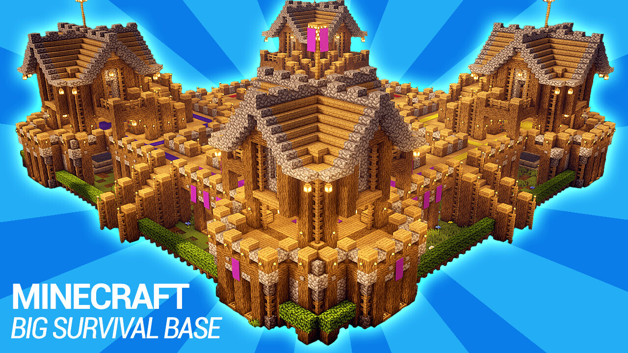 How To Build A Survival Base In Minecraft Build Tutorial