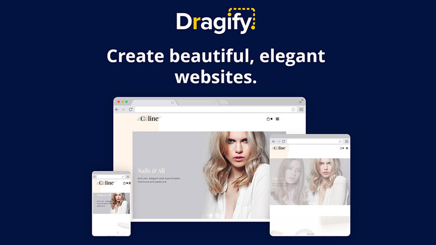 Build an awesome website code-free with Dragify, now nearly 60%