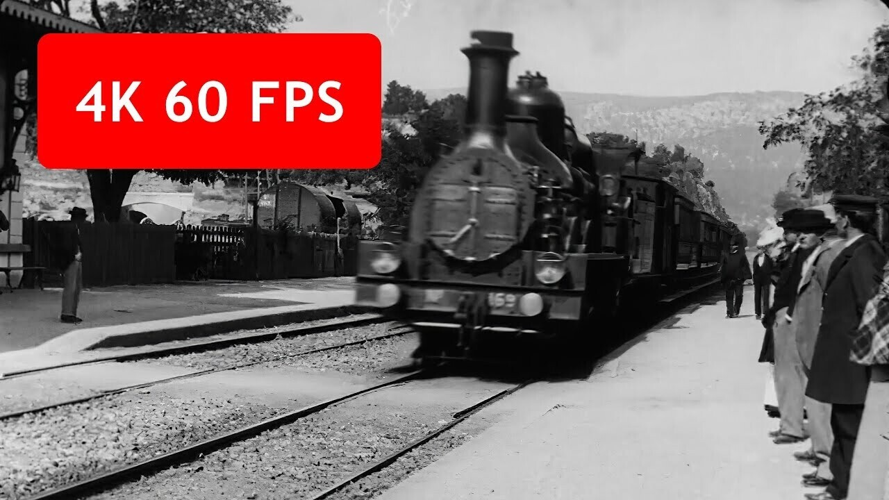 Watch: AI developer upscales famous 1895 train scene to 4K at 60 FPS