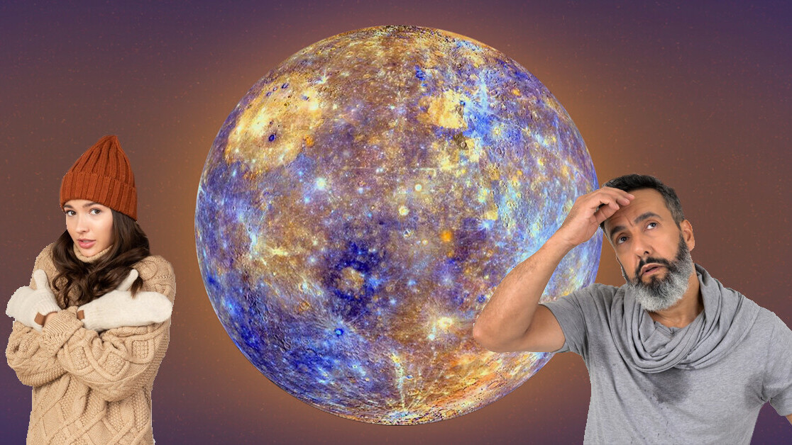 Mercury's extremely hot temperatures might help ice form on its surface
