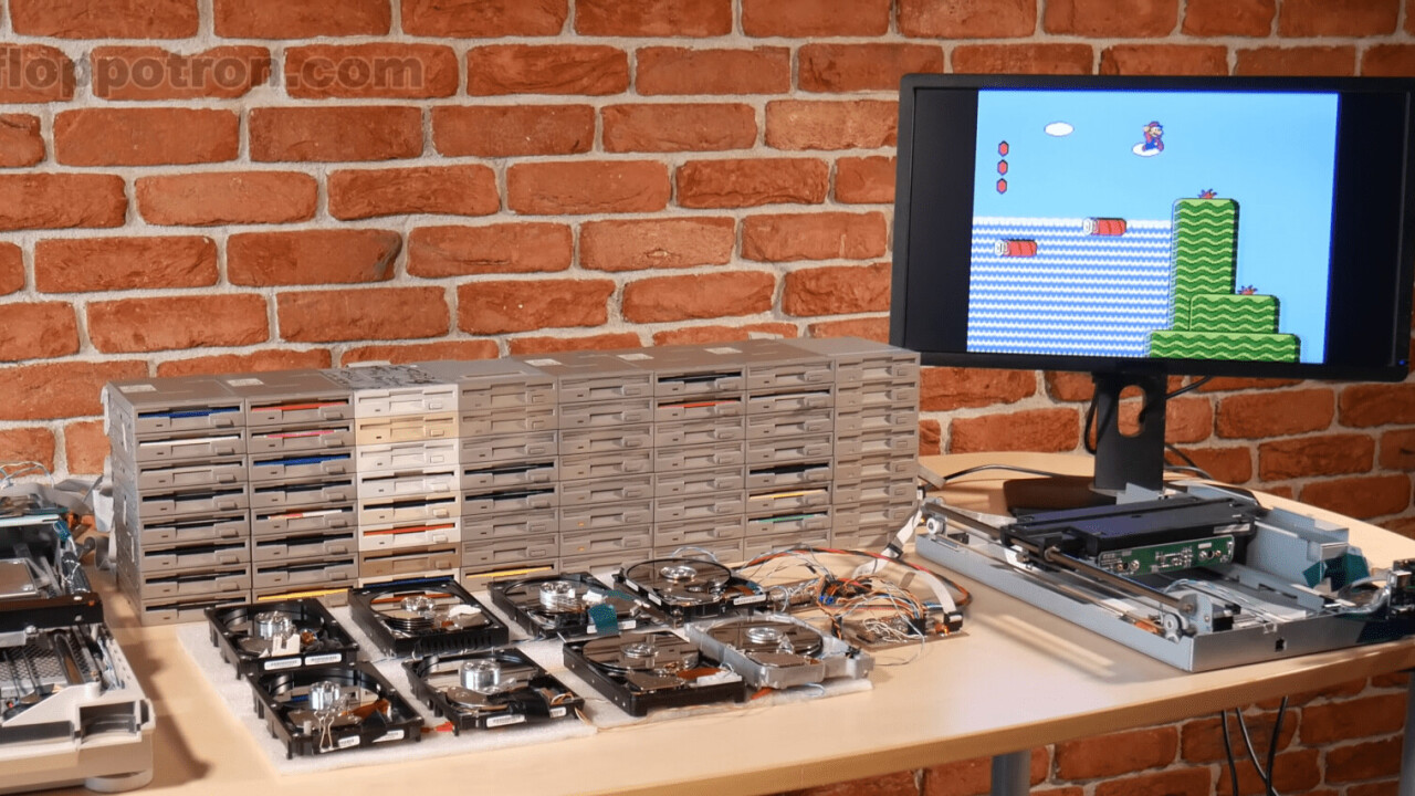 Celebrate MAR10 day with this Mario medley played on floppy drives