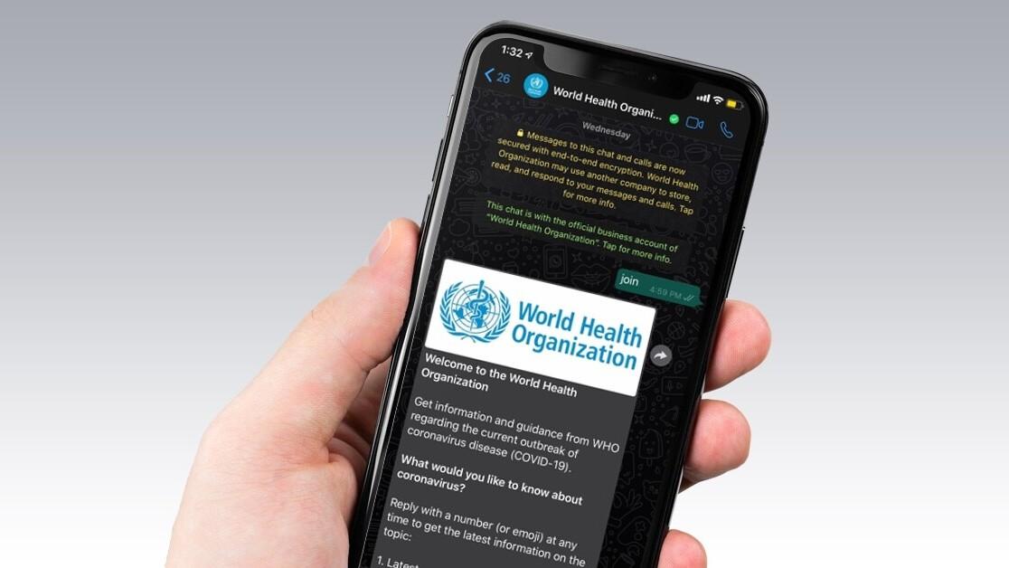 World Health Organization's WhatsApp bot texts you coronavirus facts
