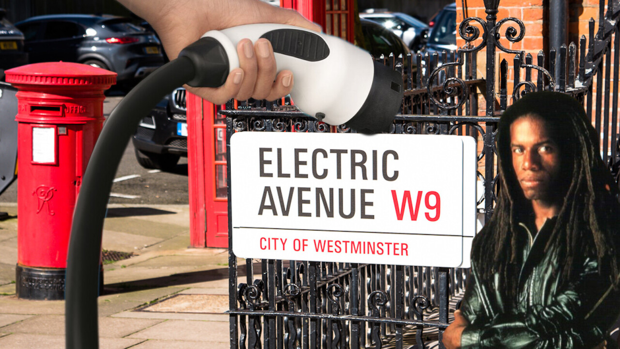 UK gets its first fully electric avenue to charge EVs on the street