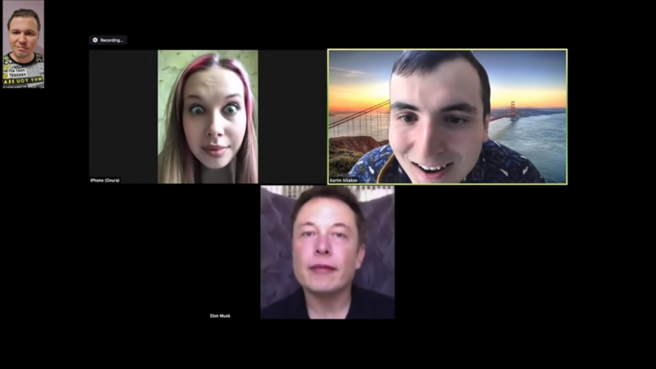 Watch: Fake Elon Musk Zoom-bombs meeting using real-time Deepfake AI