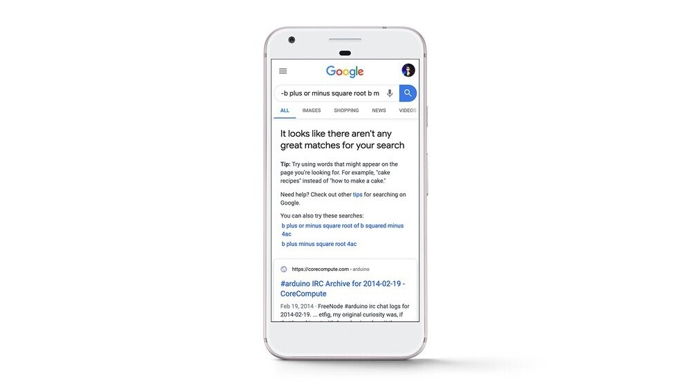 Google now alerts you when search results suck
