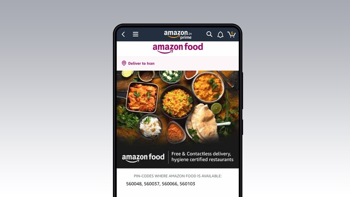 Amazon launches food delivery service in India to rival Zomato and Swiggy