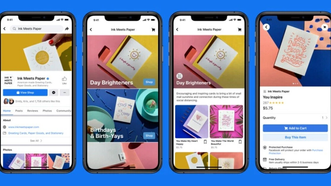 Facebook rolls out Shops, turning Pages into storefronts