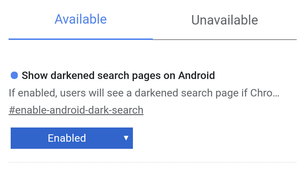 Chrome is testing dark mode for Google Search