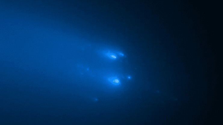 Hubble Space Telescope snaps amazing images of Comet Atlas shattering