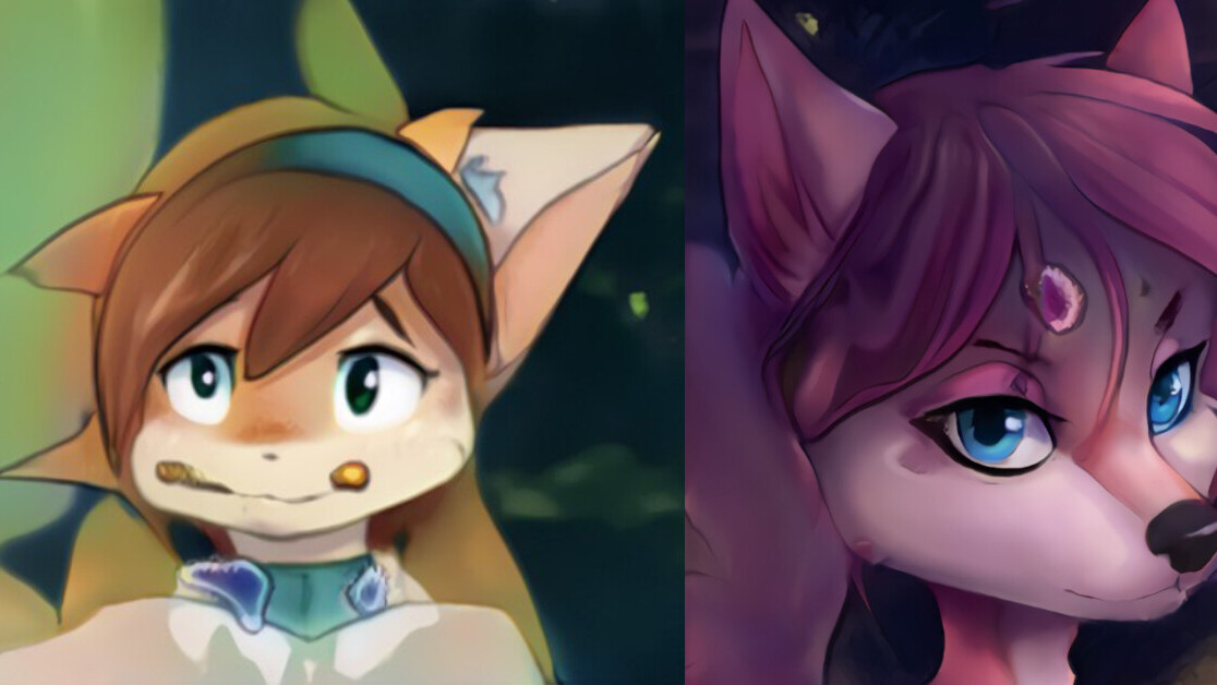 This AI spits out an infinite feed of fake furry portraits