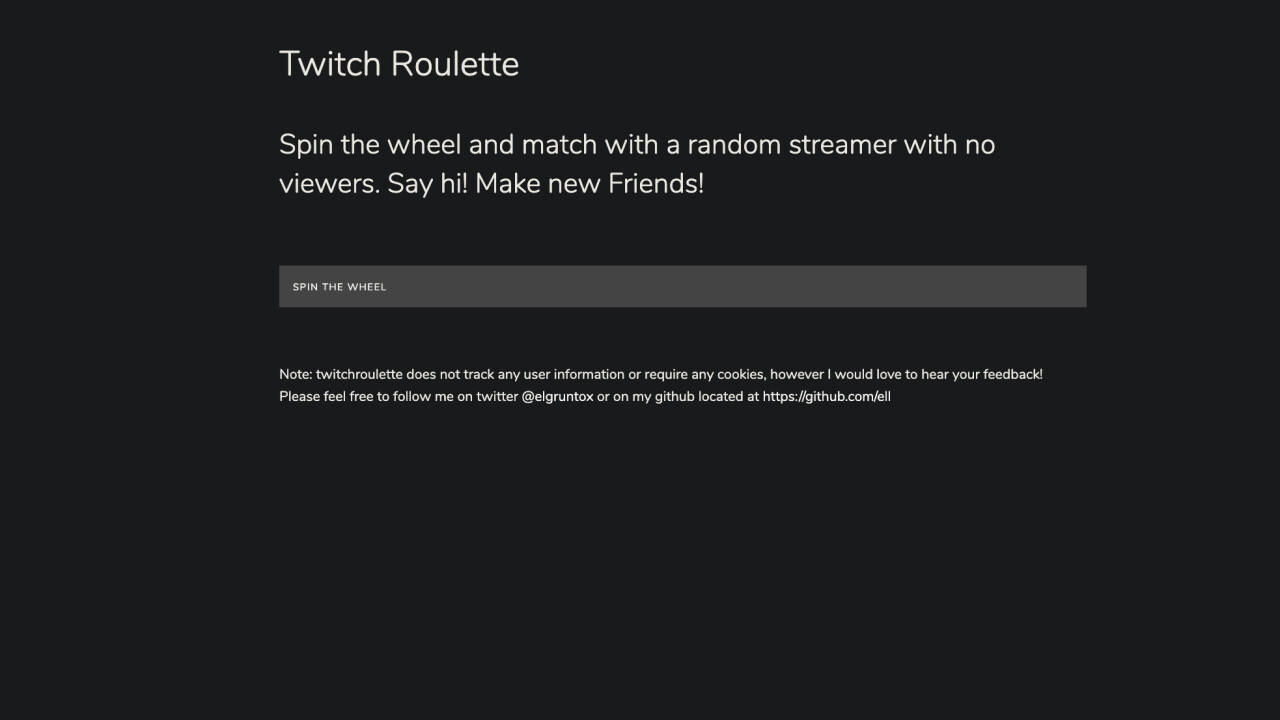 Twitch Roulette connects you with random streamers nobody wanted to watch
