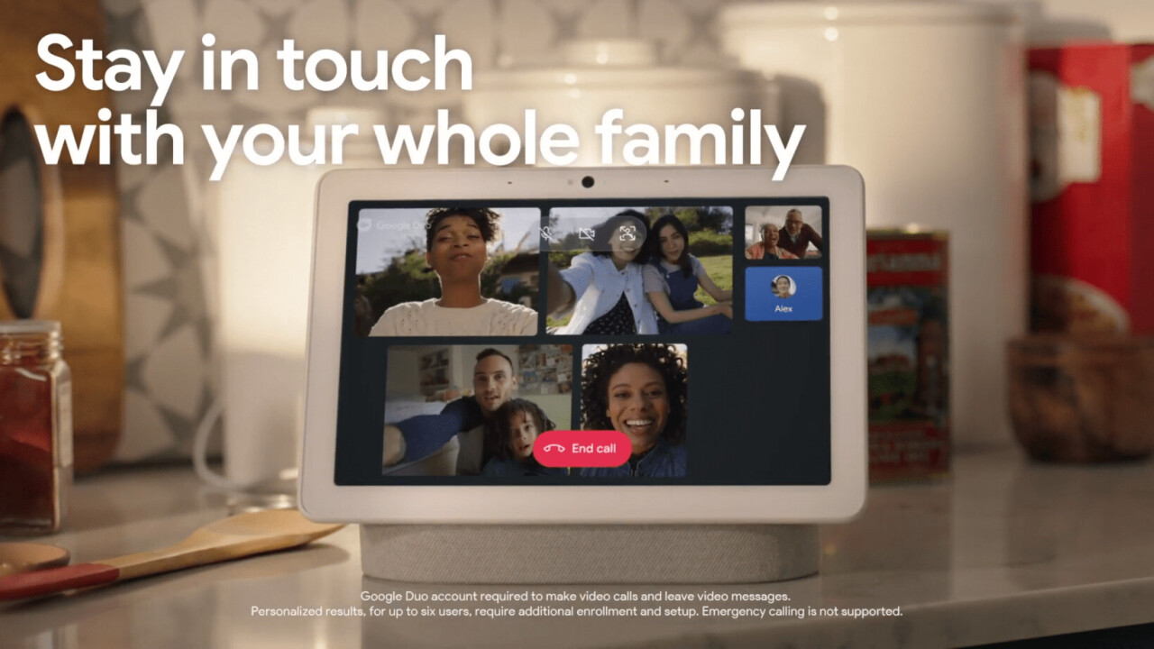 Google now lets you make group video calls on your smart display