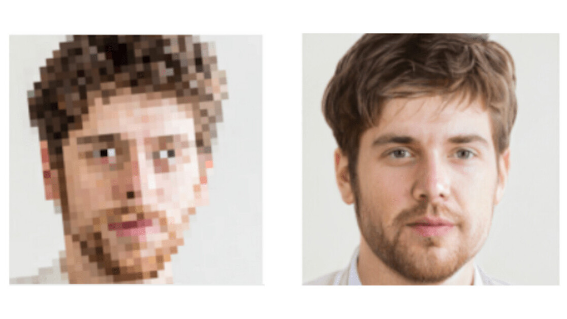 This AI turns your blurry photos into creepy HD faces