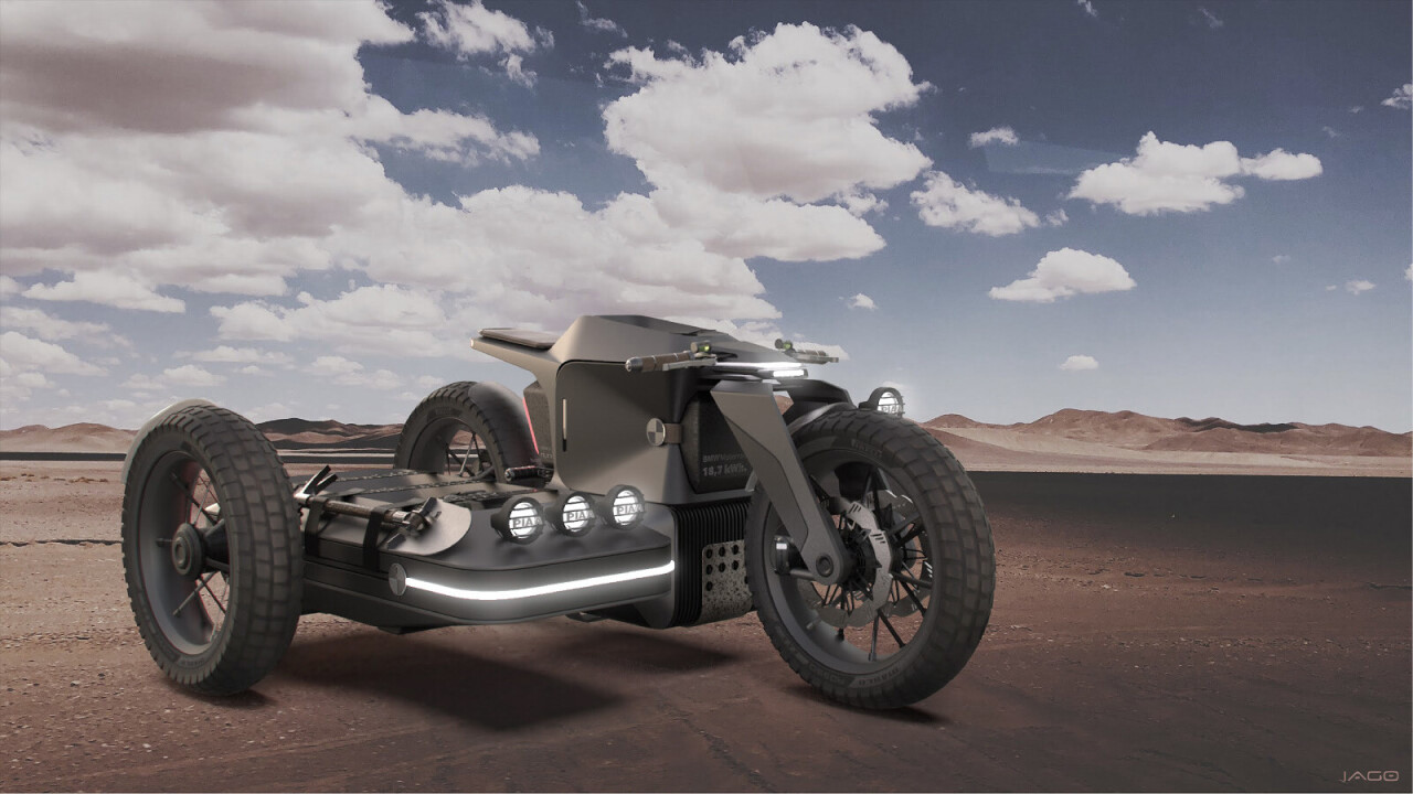 The future of electric motorbikes according to post-war inspired BMW concept art