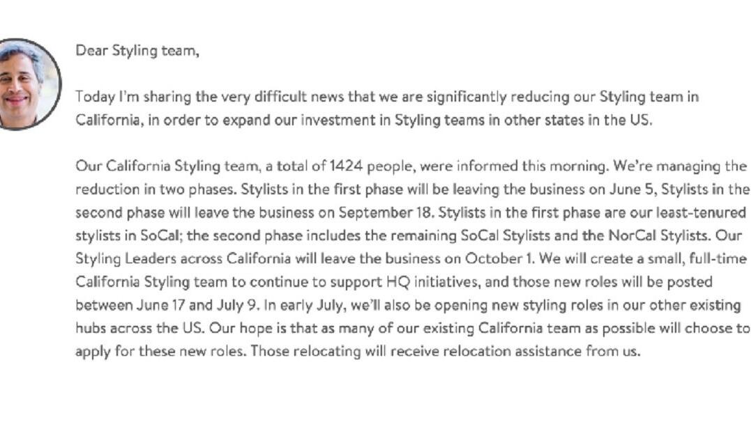Stitch Fix to conduct massive layoffs starting this week