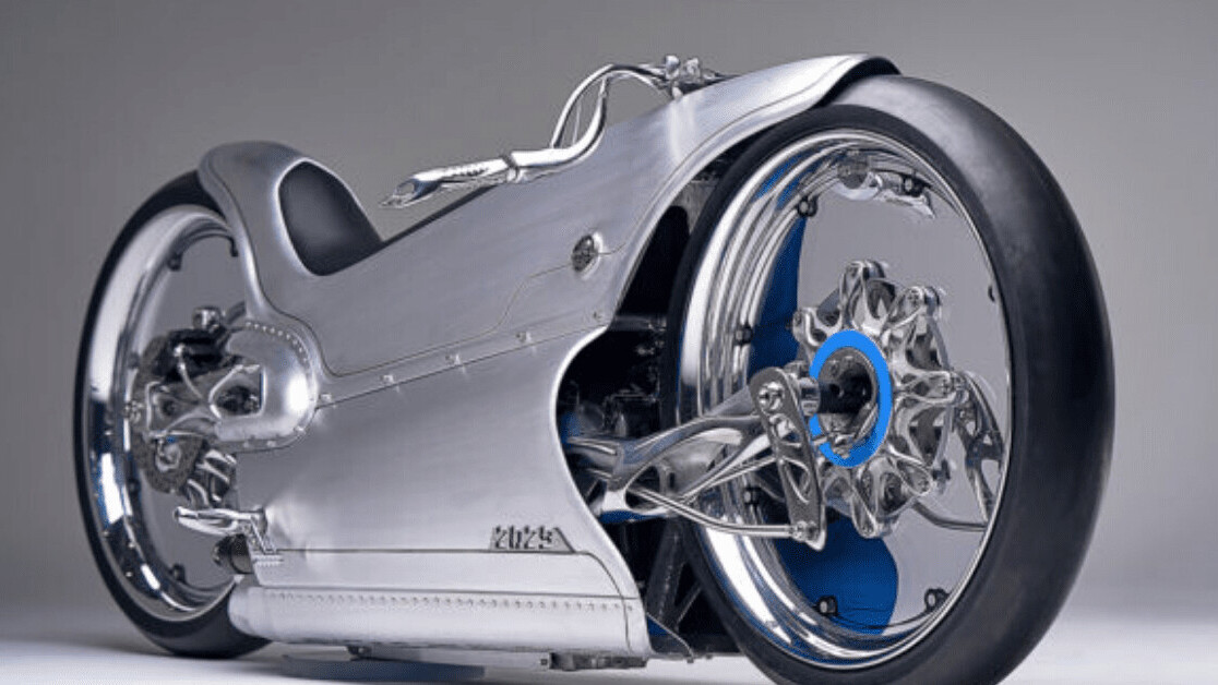 This motorcycle reimagines a radical 100-year-old art-deco design