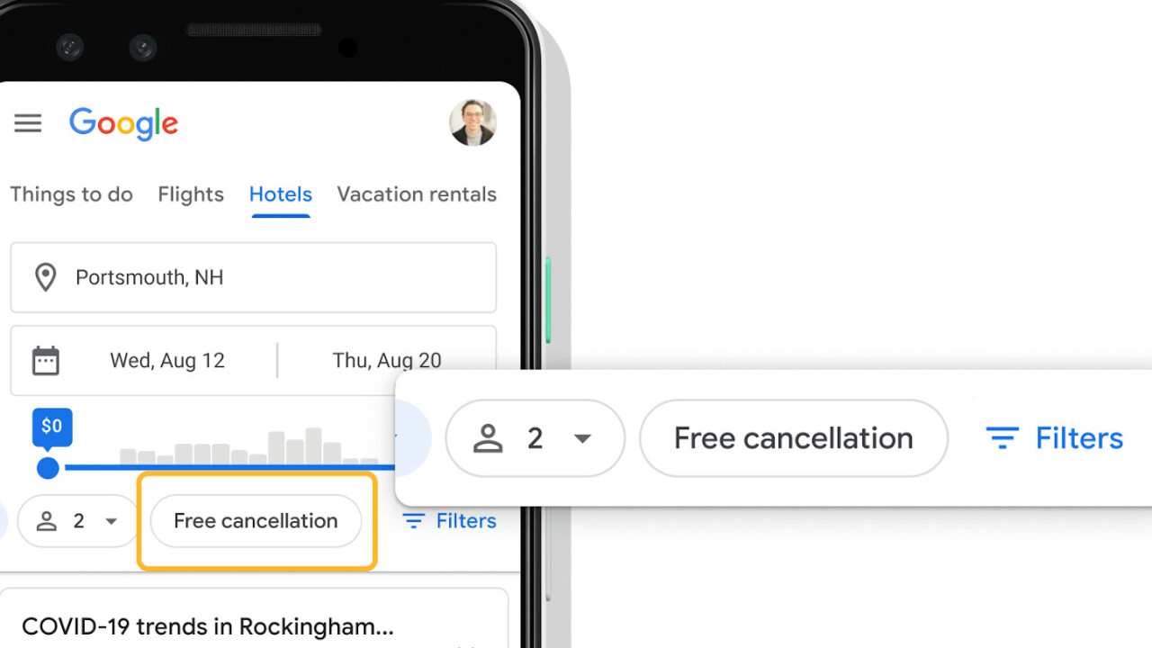 Google makes it easier to find hotels with free cancelation amid coronavirus