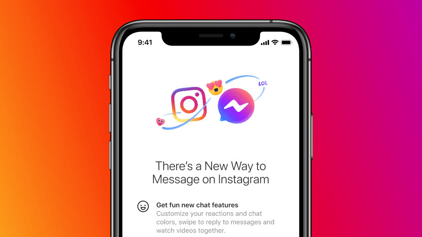 Facebook will now let you message across Messenger and Instagram
