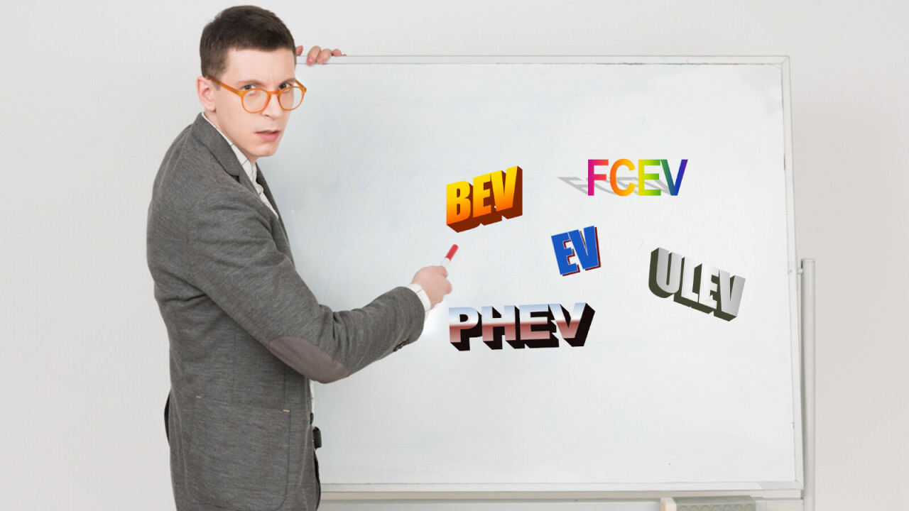 Electric vehicle acronym guide: Know your BEVs from FCEVs from PHEVs from ULEVs
