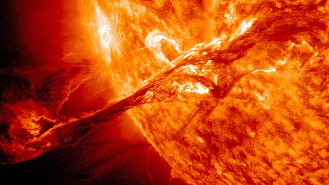 Close-up shots of the Sun reveal popcorn-like sunspots