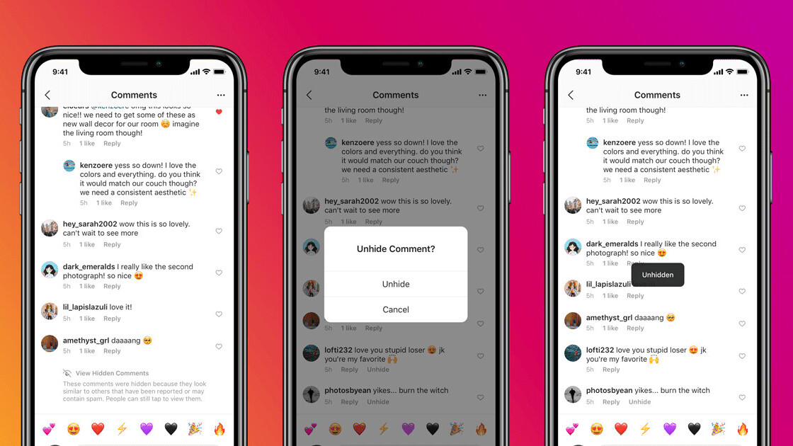 Instagram will automatically hide offensive comments on your posts using AI