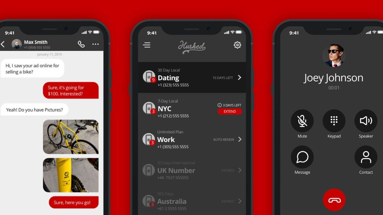 Hushed is the second private phone number you've always wanted. And it's on sale