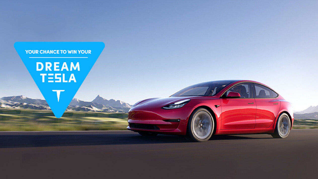 We've got a 2021 Tesla Model 3 and we're giving it away, maybe even to you